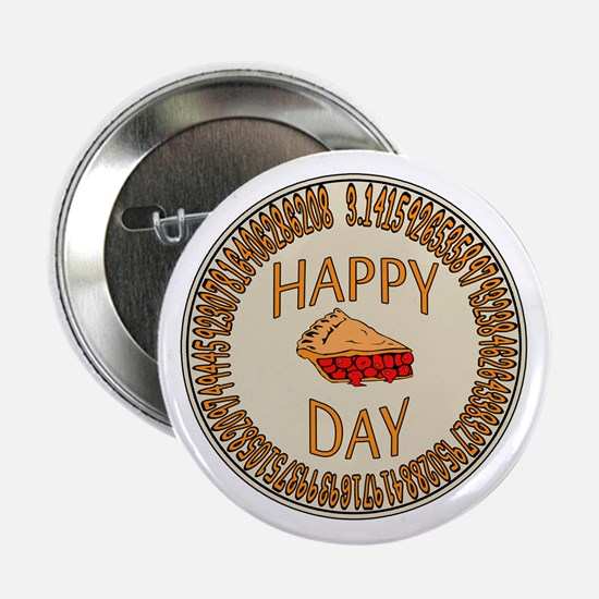 "Happy PI Day Cherry Pie 2.25"" Button"