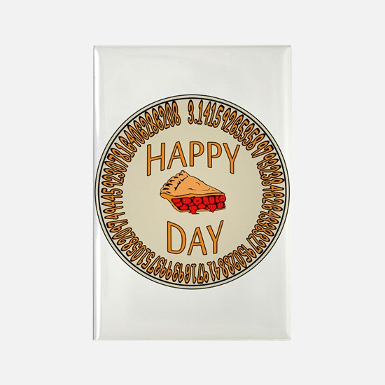 Happy PI Day Cherry Pie Rectangle Magnet