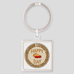 Happy PI Day Cherry Pie Square Keychain