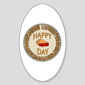 Happy PI Day Cherry Pie Sticker (Oval)