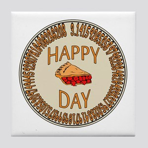 Happy PI Day Cherry Pie Tile Coaster