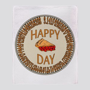 Happy PI Day Cherry Pie Throw Blanket