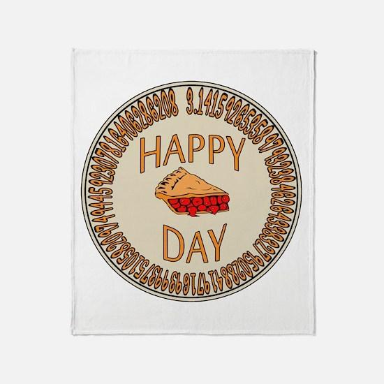 Happy PI Day Cherry Pie Throw Blanket
