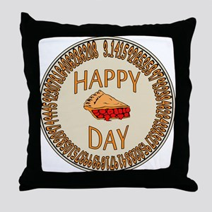 Happy PI Day Cherry Pie Throw Pillow