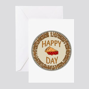 Happy PI Day Cherry Pie Greeting Cards (Pk of 10)