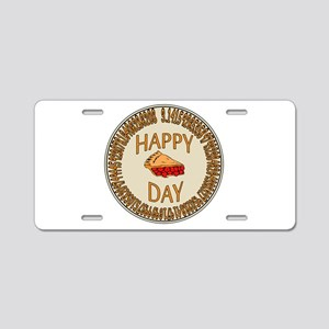 Happy PI Day Cherry Pie Aluminum License Plate