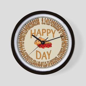 Happy PI Day Cherry Pie Wall Clock