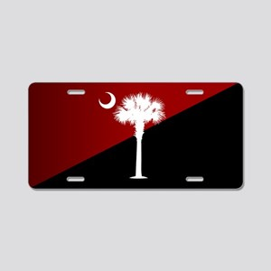 SC Flag (g&b) Aluminum License Plate