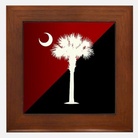SC Flag (g&b) Framed Tile