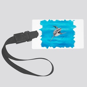 Great White Shark Hunting Large Luggage Tag
