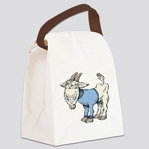 Silly Cartoon Goat in Blue Sweate Canvas Lunch Bag