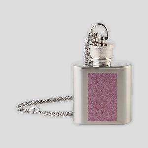 Pink Glitter & Sparkles Background Flask Necklace