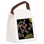 Pink Sakura Gold Black Canvas Lunch Bag