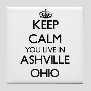 Keep calm you live in Ashville Ohio Tile Coaster