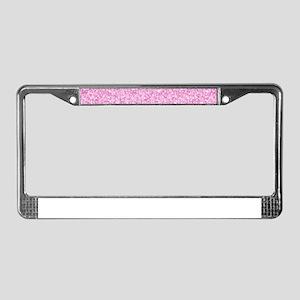 Pink Glitter & Sparkles Backgr License Plate Frame
