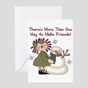 Making Friends Holiday Greeting Card