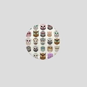 Cute Owls Mini Button