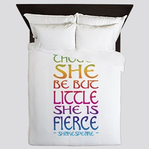 Thought She Be But Little She Be Fierc Queen Duvet