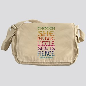 Thought She Be But Little She Be Fie Messenger Bag