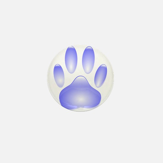 Glass Dog Paw Print Mini Button