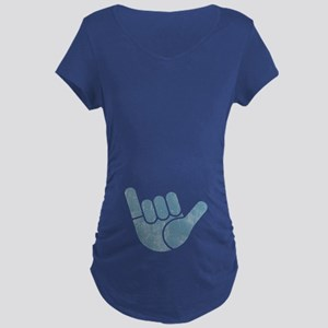 Shaka Wave Maternity Dark T-Shirt
