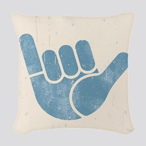 Shaka Wave Woven Throw Pillow