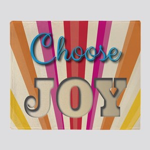 Choose Joy Throw Blanket