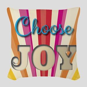 Choose Joy Woven Throw Pillow