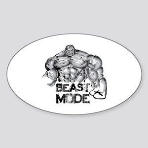 BEAST MODE Sticker (Oval)