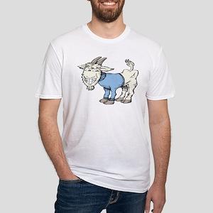 Silly Cartoon Goat in Blue Sweater T-Shirt