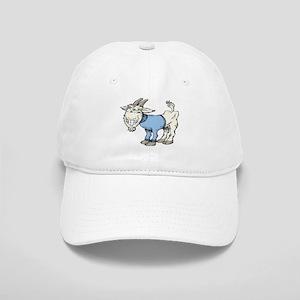 Silly Cartoon Goat in Blue Sweater Cap
