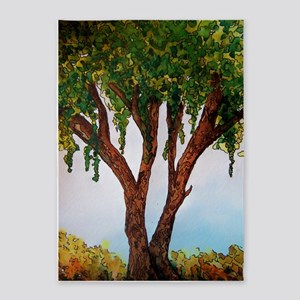 Whimsical Willow Tree 5'x7'Area Rug