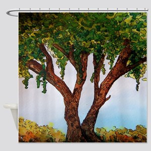 Whimsical Willow Tree Shower Curtain