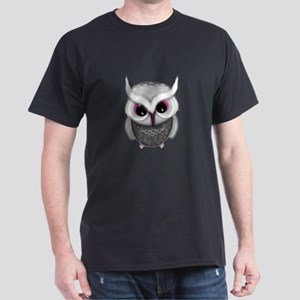 Cute Little Grey Spotted Owl Illustraton T-Shirt