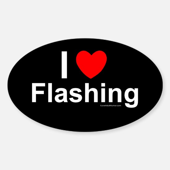 Flashing Sticker (Oval)