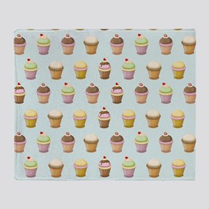 Cupcake Factory Throw Blanket