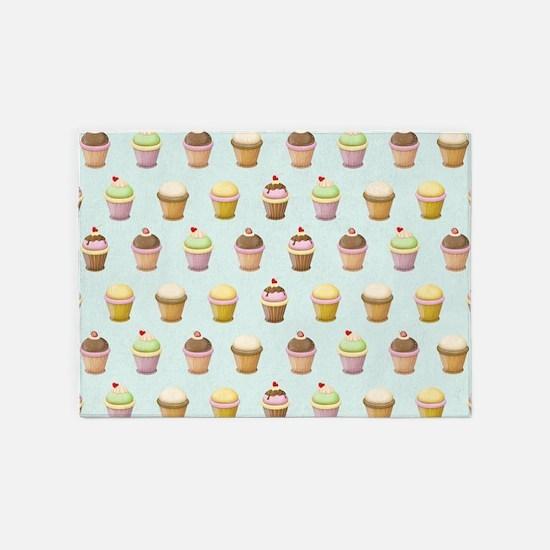 Cupcake Factory 5'x7'Area Rug