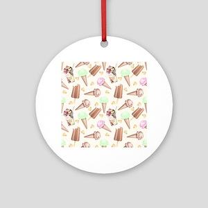 Ice Cream Scream Ornament (Round)