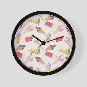 Ice Cream Choices Wall Clock