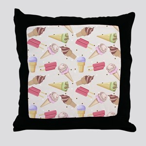 Ice Cream Choices Throw Pillow