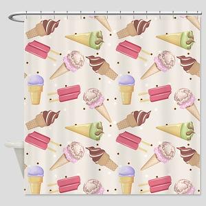 Ice Cream Choices Shower Curtain
