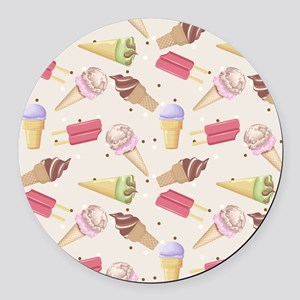 Ice Cream Choices Round Car Magnet