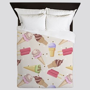 Ice Cream Choices Queen Duvet