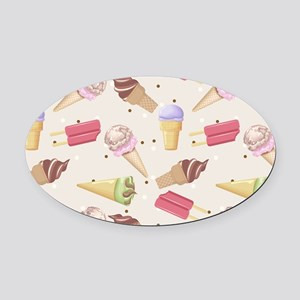 Ice Cream Choices Oval Car Magnet