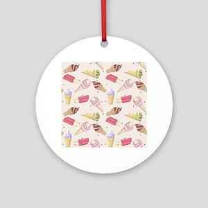 Ice Cream Choices Ornament (Round)