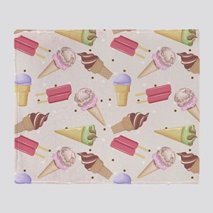 Ice Cream Choices Throw Blanket