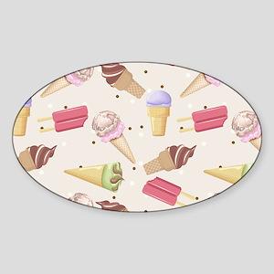 Ice Cream Choices Sticker (Oval)