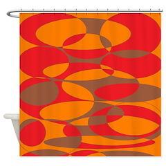 Red, orange and brown elliptical design 6500x6500