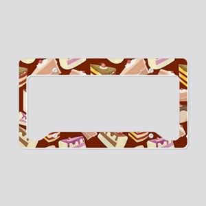 Pieces of Cake License Plate Holder