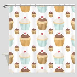 Cupcake Crowd Shower Curtain
